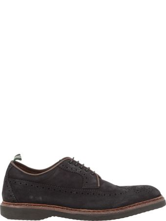 Green George Leather Lace-up Shoes