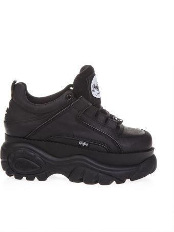 Buffalo Black High Buffalo Sneaker In Leather