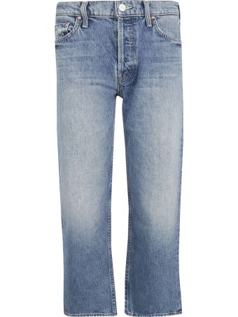 Mother Straight Leg Faded Jeans