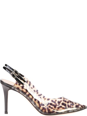 Gianvito Rossi Leopard Print Pvc And Leather Pumps