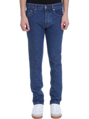 Ami Alexandre Mattiussi Slim Fit Washed Blue Denim Jeans