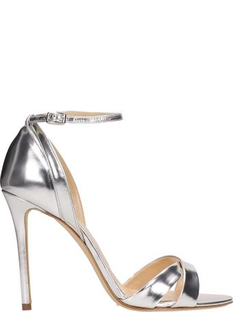 The Seller Silver Mirror Leather Sandals