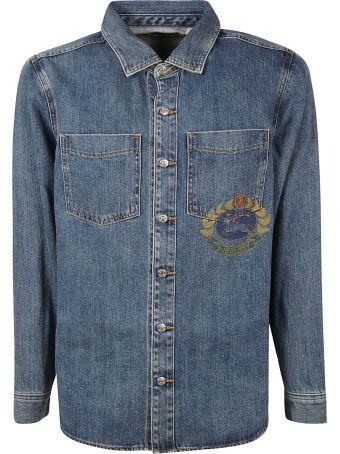 Burberry Crest Print Denim Shirt