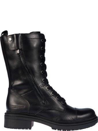 Bikkembergs Side Zipped Lace-up Boots