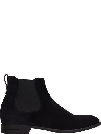 Ermenegildo Zegna Black Suede Boots