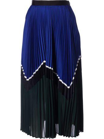 self-portrait Pleated Skirt