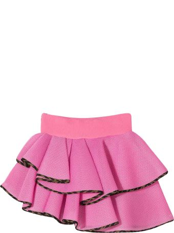 Fendi Pink Teen Asymmetrical Skirt