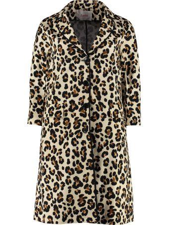 Jucca Leopard Print Cotton Swing Coat
