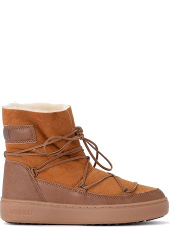 Moon Boot Pulse Honey Low Shearling Moon Boot