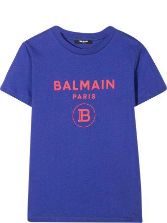 Balmain Purple Teen T-shirt