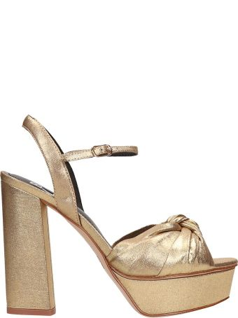 Bibi Lou Plateau Bronze  Calf Leather Sandals