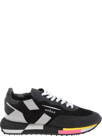 GHOUD Star Sneakers In Suede And Glitter