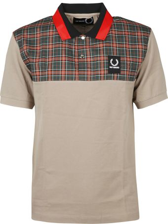 Fred Perry Raf Simons X Fred Perry Check Print Polo Shirt