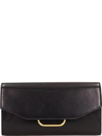 Isabel Marant Black Leather Clutch Bag