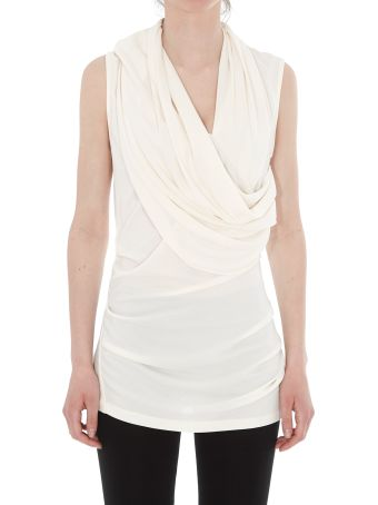 Lanvin Draped Jersey Top