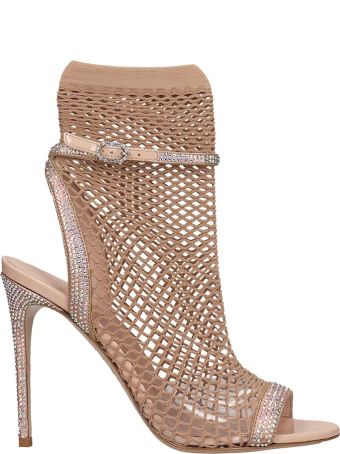 Le Silla Sandals In Powder Leather