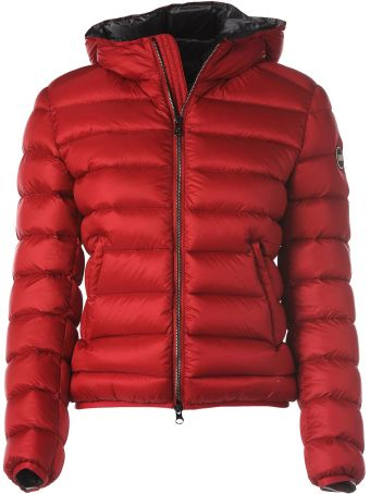 Colmar Hooded Red Down Jacket