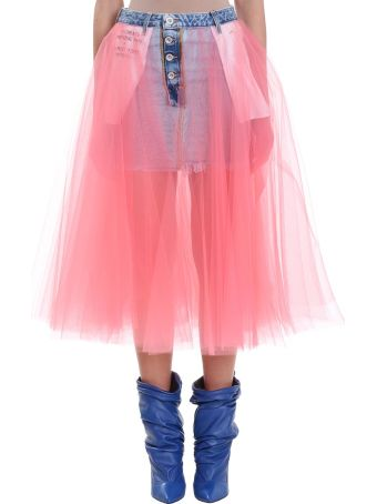 Ben Taverniti Unravel Project Blue Stone 20 Denim Skirt