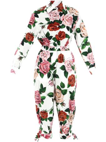 Dolce & Gabbana Full Suit With Flowers