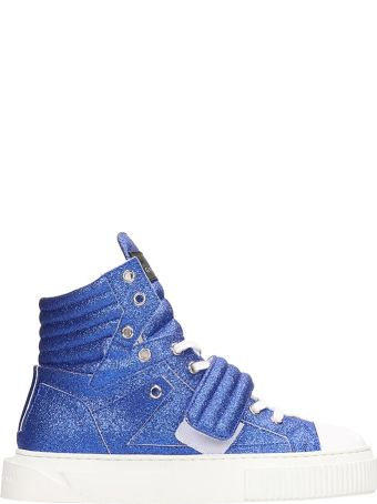 Gienchi Hypnos Blue Glitter Sneakers