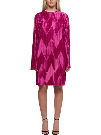 Givenchy Zig-zag Pleated Dress