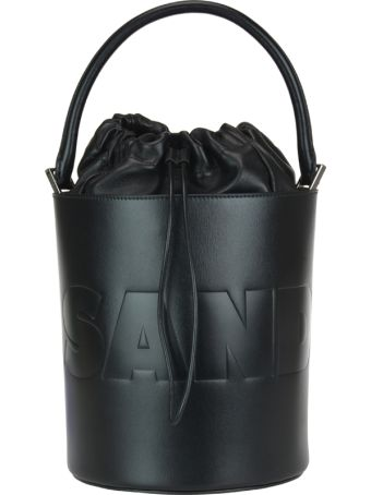 Jil Sander Handle Logo Buckle Bag