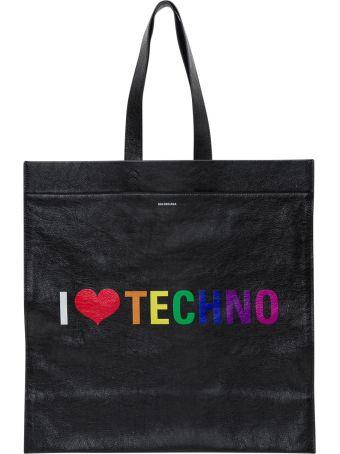 Balenciaga Supermarket Shopper L I Love Techno
