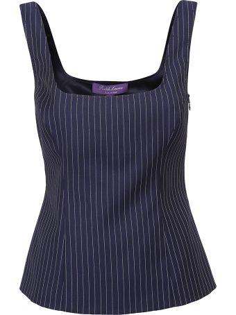 Ralph Lauren Black Label Stripe Pattern Top