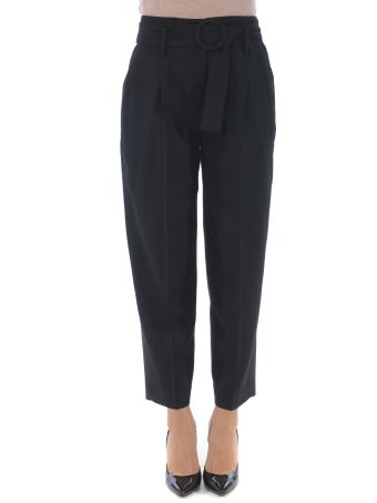 True Royal Belted Cropped Trousers