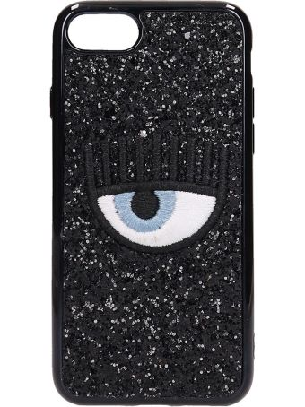 Chiara Ferragni Black Glitter Iphone 7-8 Cover