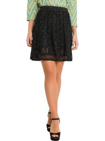 M Missoni Sequined Short Macramé Skirt