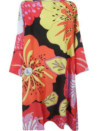 Sofie d'Hoore Tropical Print Off-the-shoulder Long Dress