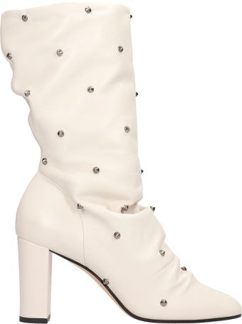 Marc Ellis Milk Calf Leather Ankle Boots
