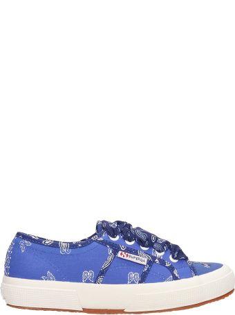 Alanui Superga X Alanui Collaboration Blue Canvas Sneakers
