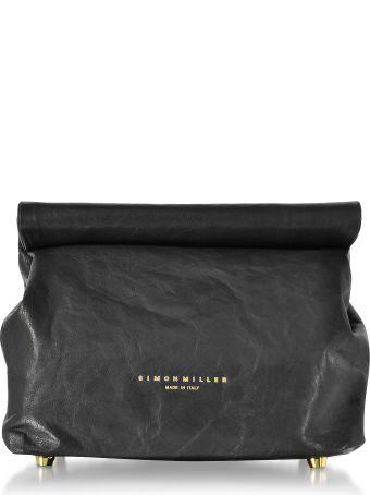 Simon Miller S809 Black Leather 20 Cm Lunch Bag