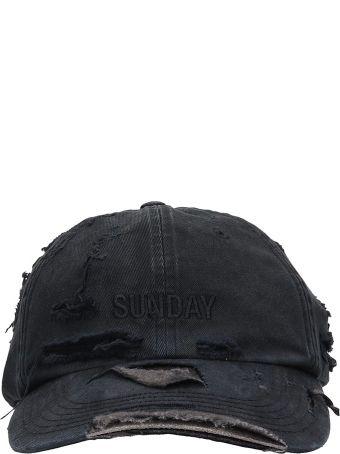 VETEMENTS Black Cotton Weekday Cap