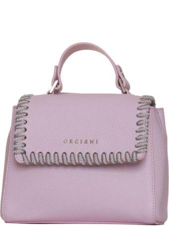 Orciani Mini Sveva White Chain In Pink