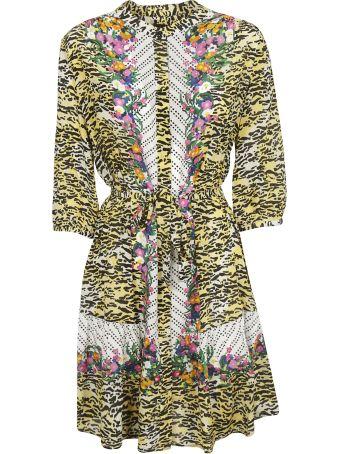 Saloni Floral Printed Belted Dress