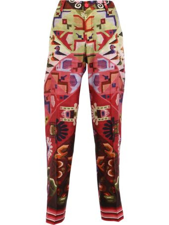 For Restless Sleepers Printed Twill Trousers