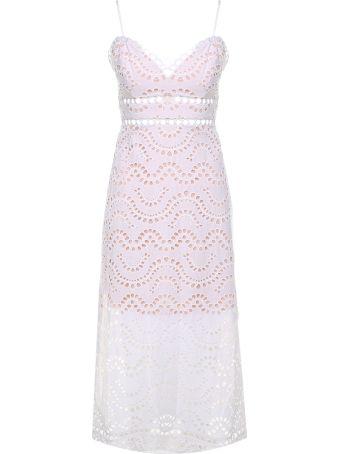 Zimmermann Jaya Wave Broderie-anglaise Cotton Midi Dress