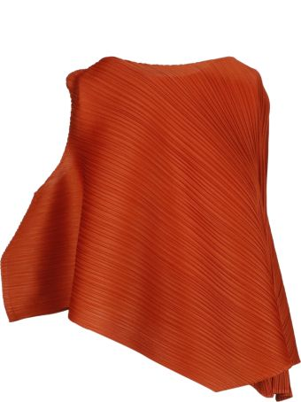 Pleats Please Issey Miyake Pleats Please By Issey Miyake Flared Asymmetric Top