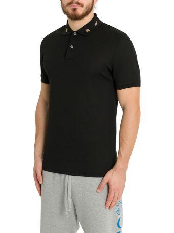 Gucci Embroidered Collar Polo Shirt