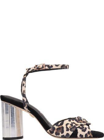 Lola Cruz Animalier Suede Sandals