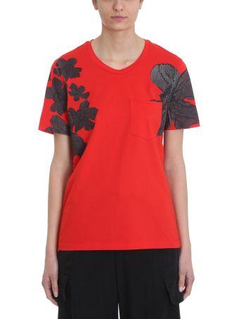 Neil Barrett Red Cotton T-shirt