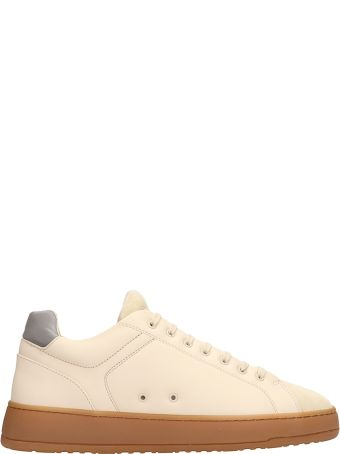 Etq Beige Leather And Suede Low 04 Sneakers