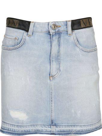 Versace Collection Denim Mini Skirt