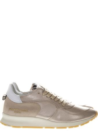 Philippe Model Montecarlo Rose Laminated Leather Sneakers