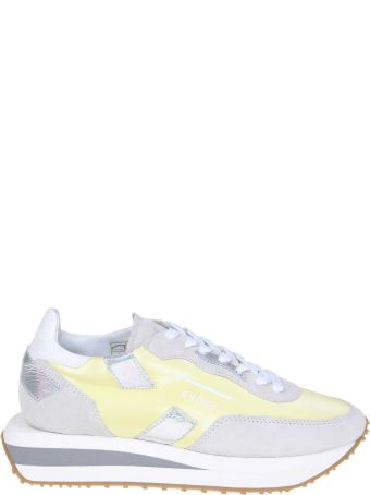 GHOUD Rush Sneakers In Suede And Nylon Color White / Yellow
