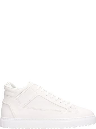 Etq White Leather Mid 02 Sneakers