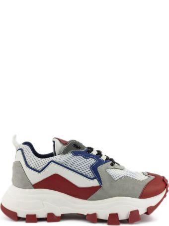 Cinzia Araia Dragon Trail Sneaker In White And Red